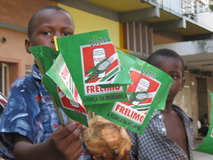 [Mozambique] Ruling party supporters.