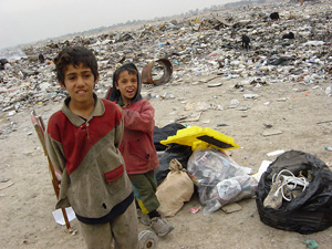 Baghdad's rubbish dump is rapidly becoming a source of income for internally displaced persons, 1 December 2004. Twenty years of village clearances, Arabisation campaigns in ethnically mixed areas and a Kurdish civil war have forced about 800,000 people
