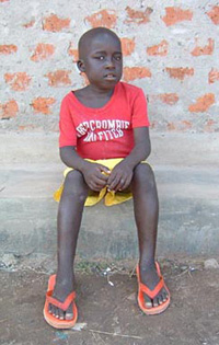 [Uganda] Simon Atenon,6, who was abducted by LRA rebels and made to walk 400 km.