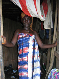 [Guinea] A Liberian woman - an urban refugee - who works as a prostitute in Conakry, Guinea.