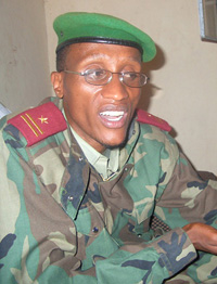 [DRC] Gen Laurent Nkunda, renegade Congolese commander army commander, in Goma, eastern DRC. Date taken: 21 August 2004.