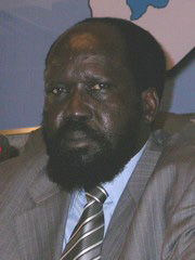 [Sudan] Salva Kiir Mayardit at a news conference in Khartoum on 5 September 2005. [Date picture taken: 09/05/2005]