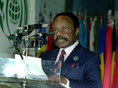 [Gabon] Omar Bongo, president of Gabon and now Africa's longest-serving head of state. February 2005.