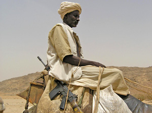 [Sudan]  A Beja man in the rebel-controlled area of eastern Sudan near the Eritrean border.