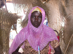 [Sudan] Hamida Abdel Shafi, 17, who lives at Kalma IDP camp in Darfur, western Sudan.