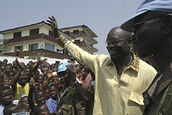[Liberia] George Weah, a former international football star, is hoping to stand as a candidate in Liberia's presidential elections on 11 October 2005.