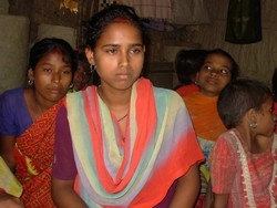 [Nepal] Laxmi Chaudhary married when she was barely nine. Child marriage is quite common in remote villages of southwest Nepal. [Date picture taken: 10/10/2006]