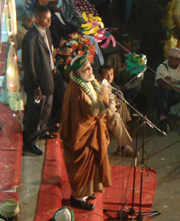 [Comoros] Ahmed Abdallah Sambi – 'the Ayatollah' – speaking at a political rally on Anjouan. [Date picture taken: 04/15/2006]