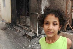 [Lebanon] Layal- an eight year old- in the streets of Yaroun. [Date picture taken: 08/22/2006]