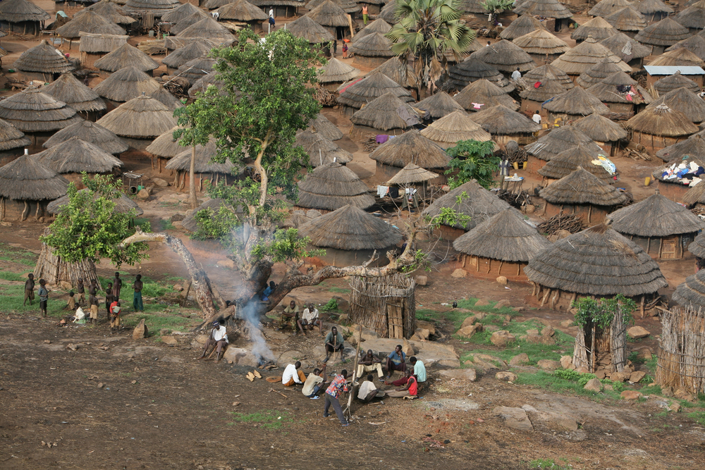 A view of Omiya-Anyima IDP camp, northern Uganda, 17 May 2007. Since only gazetted camps are eligible to receive official humanitarian assistance, tens of thousands of IDPs in camps in Uganda receive little or no assistance.
