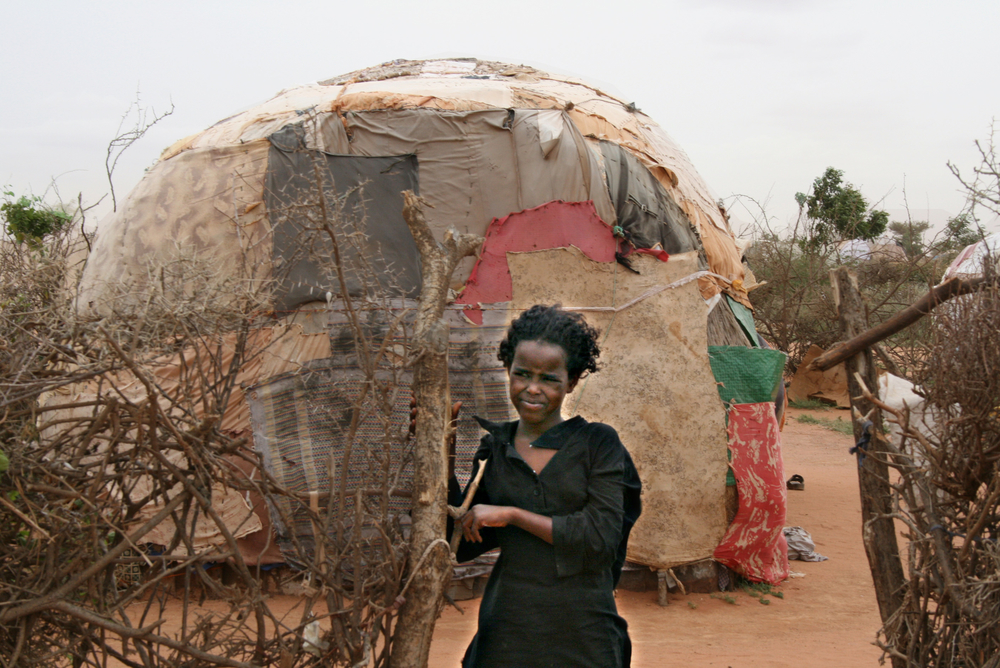 Permanent shelters are slowly taking shape replacing temporary returnee shanties such as this one in Koosar, Burao, Togdheer region of the self declared republic of Somaliland June 2007.