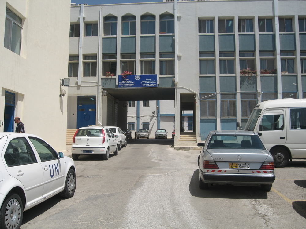 The UNRWA headquarters in Amman.