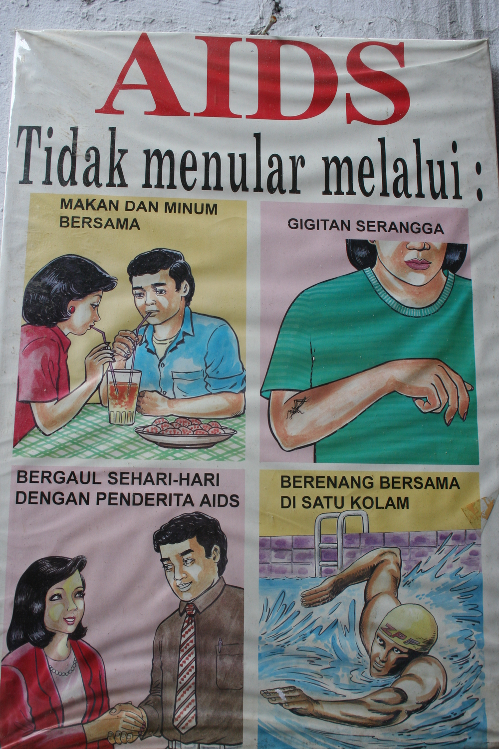 AIDS campaign, Indonesia.