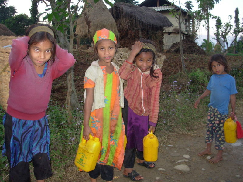 Many children in both rural and urban areas miss out on school in order to fetch water.