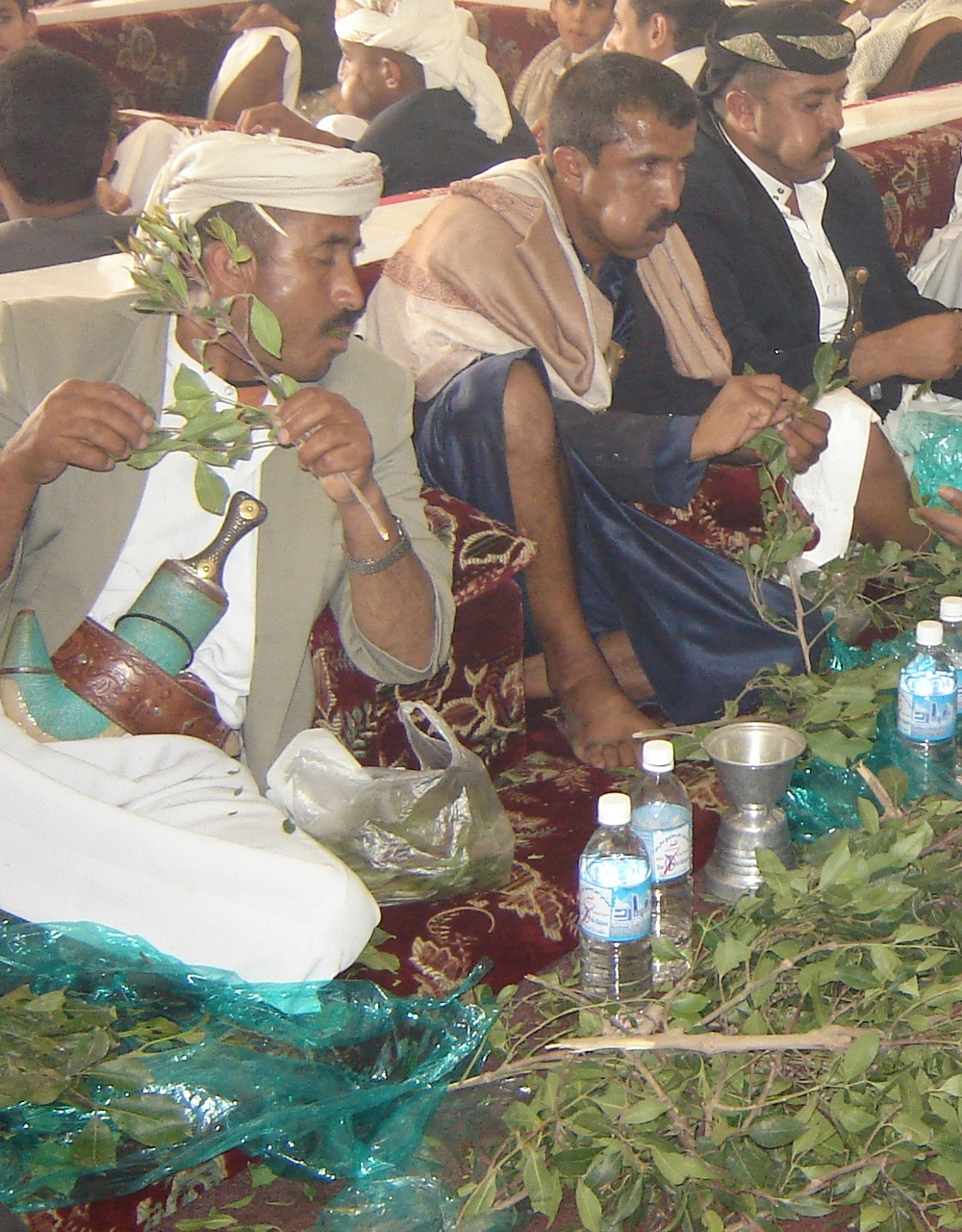 There are about 7 million qat chewers in Yemen, most of whom are men.