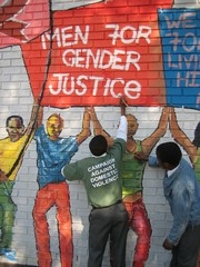 [South Africa] Men as Partners activists protest against low rape convictions in South Africa.