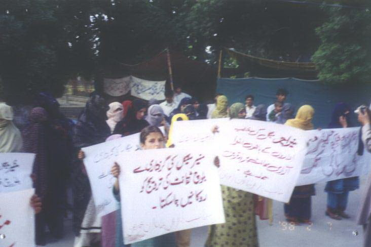 A protest by families of the 'disappeared' in Quetta, Paksitan.