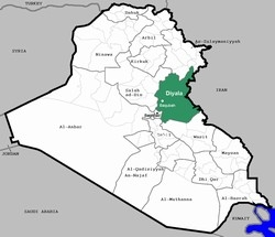 [Iraq] A map of Iraq highlighting Diyala province and Baqubah city. [Date picture taken: 01/16/2007]