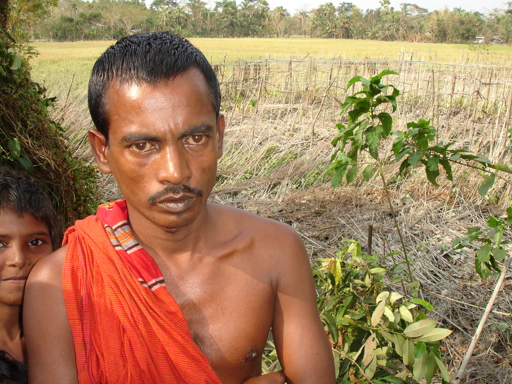 Rabin Das, 38, a paddy farmer in the village of Naya Para, Barguna District, lost his entire crop when Cyclone Sidr struck Bangladesh on 15 November. More than 3,000 people were killed and millions left homeless in the disaster.