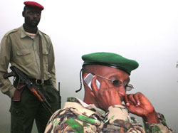 [DRC] Congolese dissident army general, Laurent Nkunda, who recently agreed to hold talks with the Congolese government, Congo, 20 January 2007.  He has been waging a rebellion in eastern DRC, where he controls about 2,000 men.