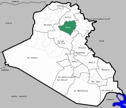 [Iraq] A map of Iraq highlighting Kirkuk province.  [Date picture taken: 01/22/2007]