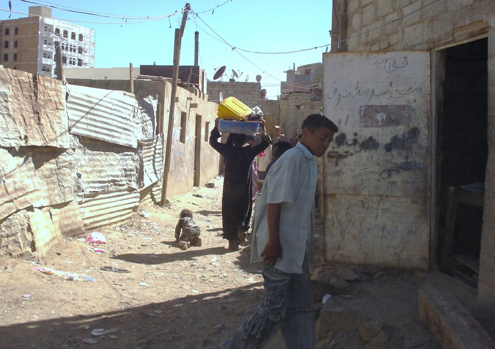 Over 17,000 people live in squalid conditions in Mahwa Aser, one of the poorest slums in Sanaa.