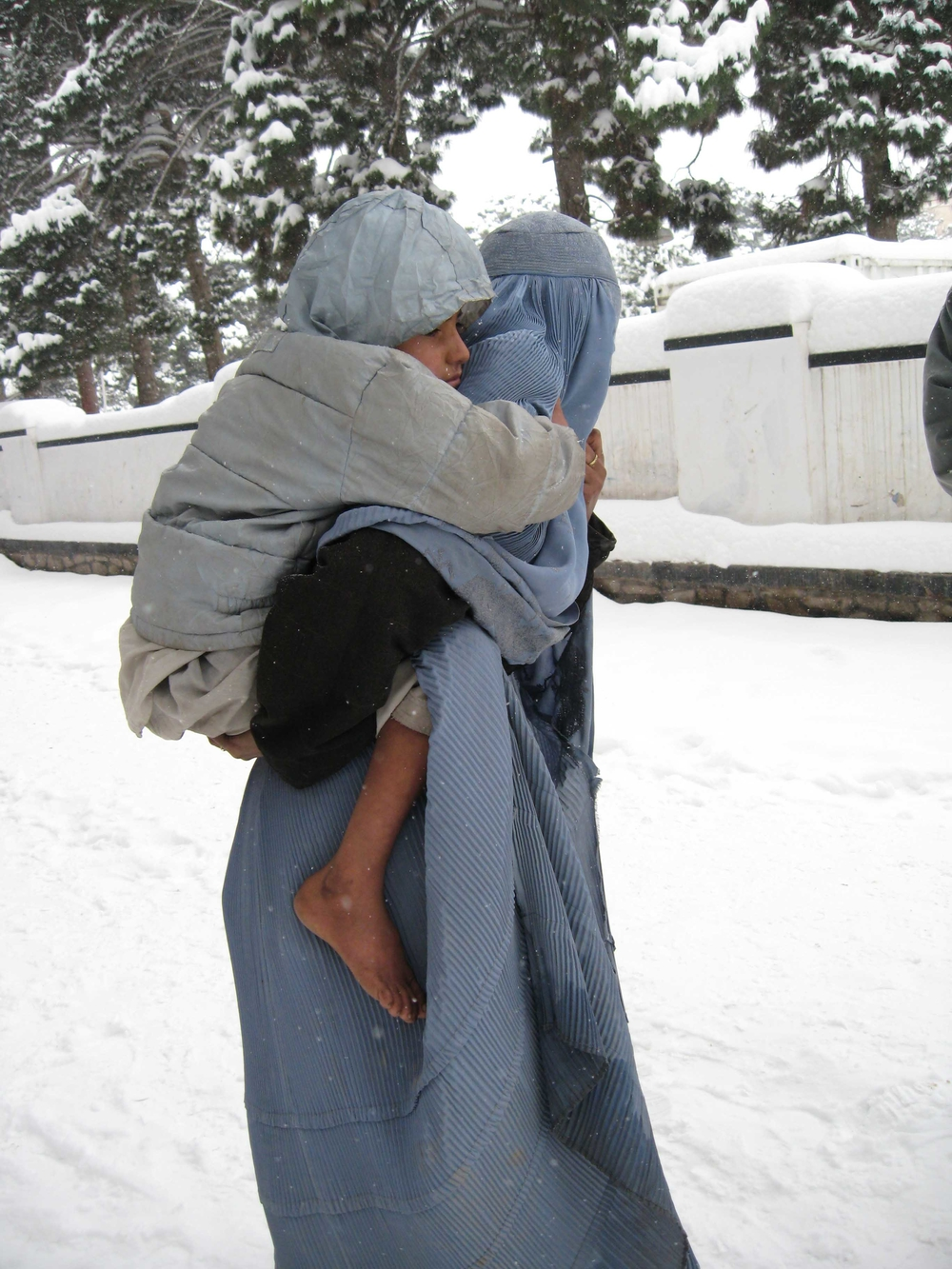 Most of the more than 300 victims of cold weather and snow have been children, the elderly and women.