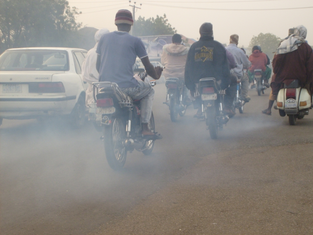 There are two million motorbikes in the city of Kano, which cloud the air with pollution, leading to health problems for residents.
