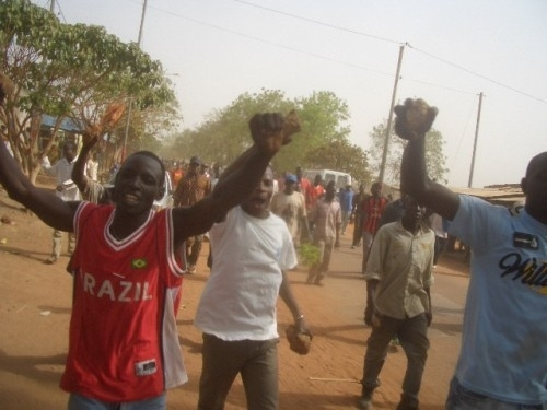 Rioters took to the streets in Burkina Faso's second city, Bobo-Dioulasso, in February 2008 protested rising food and fuel prices.