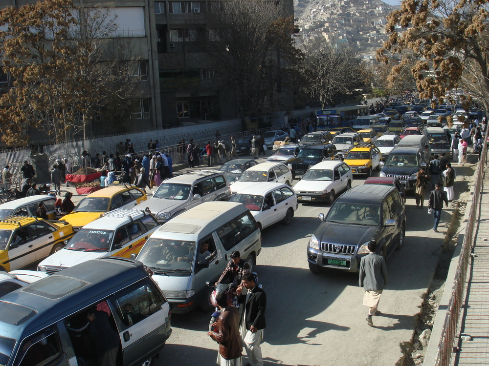 The Afghan capital is also suffering from an unregulated urbanisation and rapid population growth. Despite over 1 million in-service automobiles the Kabul traffic department register over 8,000