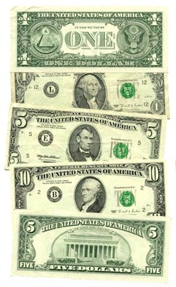 A selection of various US dollars.