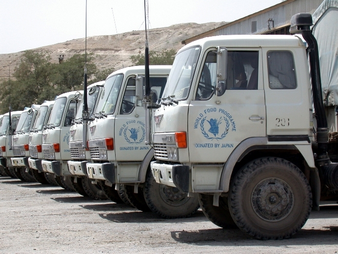 WFP trucks have become under increasing attacks in parts of Afghanistan.