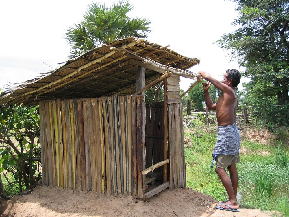 Constructing latrines is cheaper than buying them, and saves communities $100 or more per toilet.