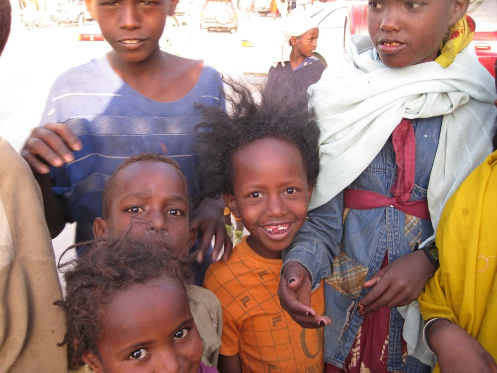Street children pose for a photographer in Hargeisa, capital of Somalia's self-declared republic of Somaliland.