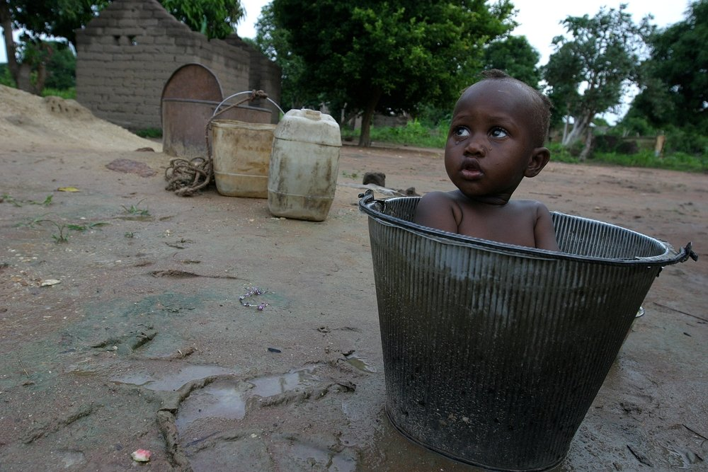 A child in Sam Ouandja, northeastern CAR