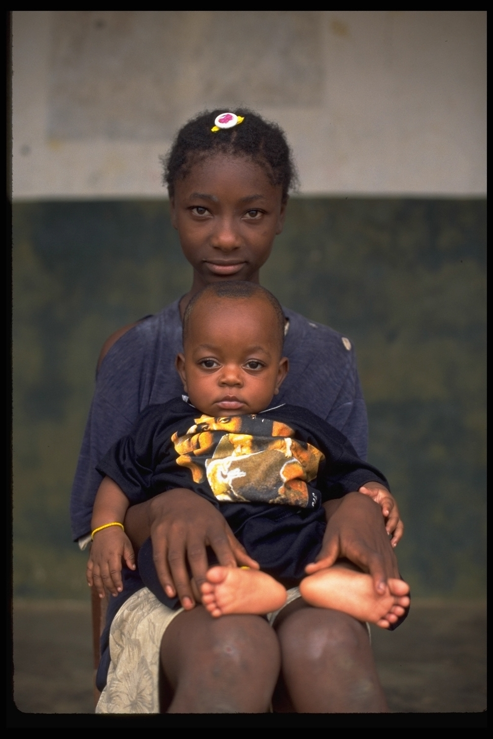 Young mother in Sierra Leone