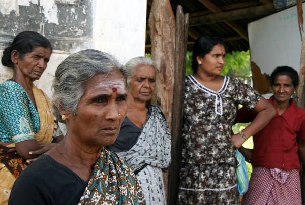 Civilians who fled the fighting at welfare centres in Vavuniya, about 100km south of where fighting is taking place