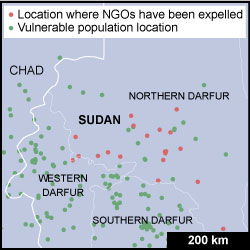 Darfur situation map