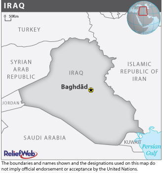 A map of Iraq