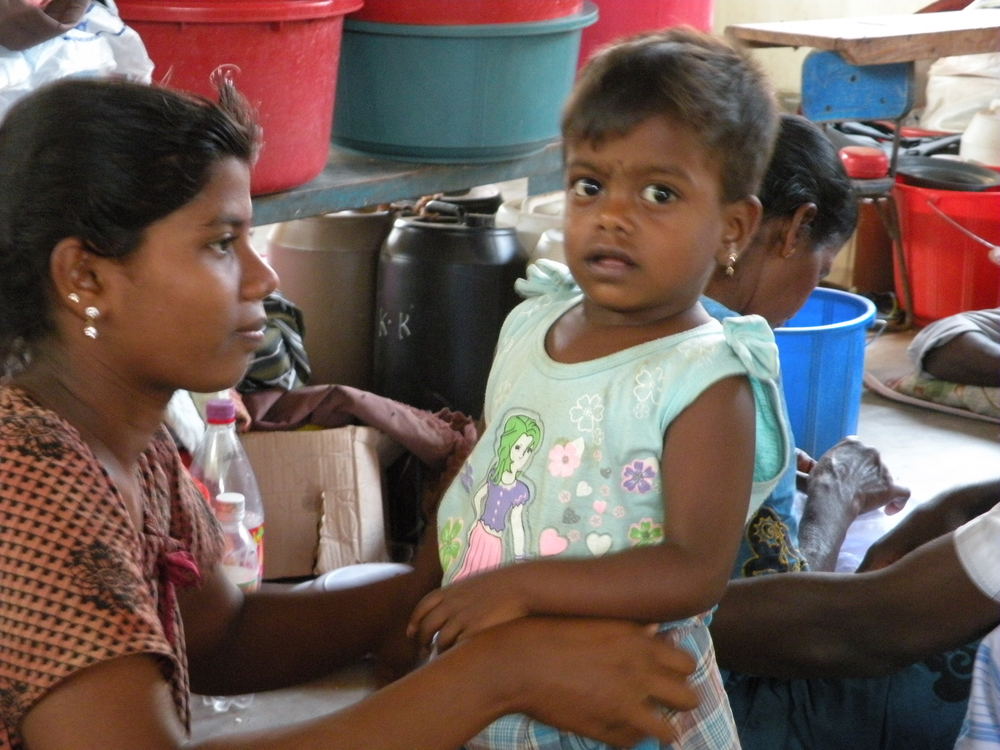 A child at a displaced persons site in Vavuniya, northern Sri Lanka. Thousands of children have been affected by the conflict