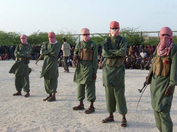 Members of the militant Al-shabab in southern Somalia