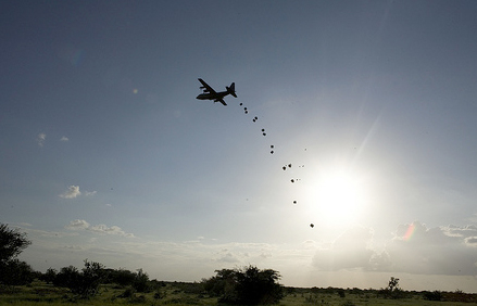 Flood Airdrop in Kenya by UNHCR