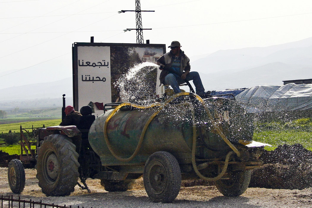 Farmers in Lebanon's eastern Bekaa Valley, where outdated irrigation systems causes water shortages despite the country's above-average rainfall