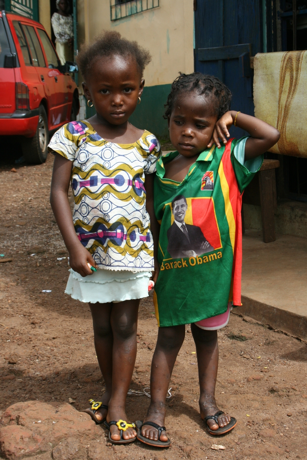 Children in the Gbessia Port neighbourhood of the Guinea capital Conakry. August 2009