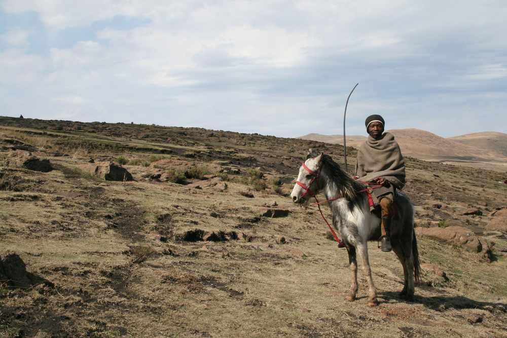 Many areas in Lesotho are only accessible by foot or horseback
