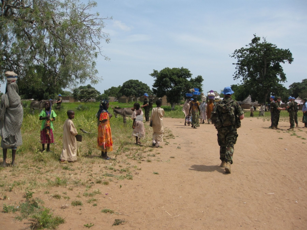 MINURCAT forces patrol Ade in eastern Chad, one of the areas the UN has identified as a potential returnee site for IDPs