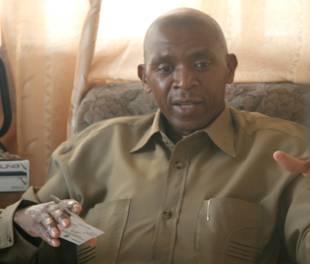 Agathon Rwasa, leader of the Forces nationales de liberation (FNL), which transformed itself from a rebel movement to a political party in April 2009. Rwasa is now the director-general of Burundi's National Social Security Institute, known by the French a