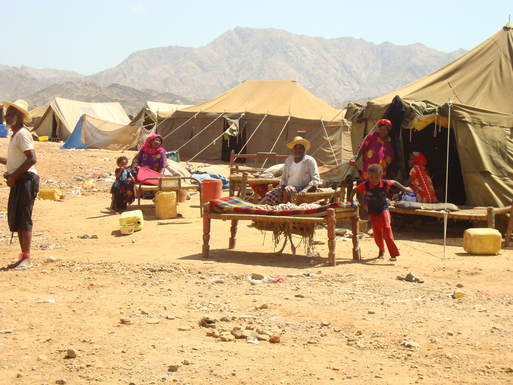Temperatures al-Mazraq IDP camp, in Hajjah Governorate, can fall from 20 degrees Celsius in the day to near zero at night