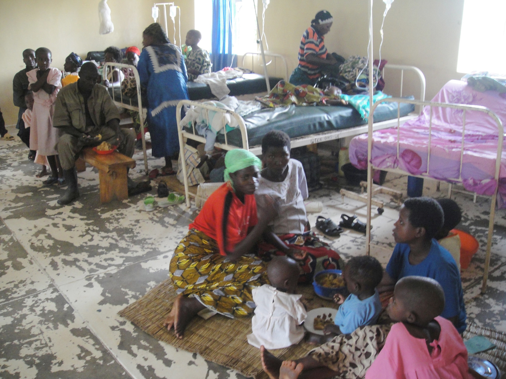 Because of overcrowding children must share beds in the pediatric ward