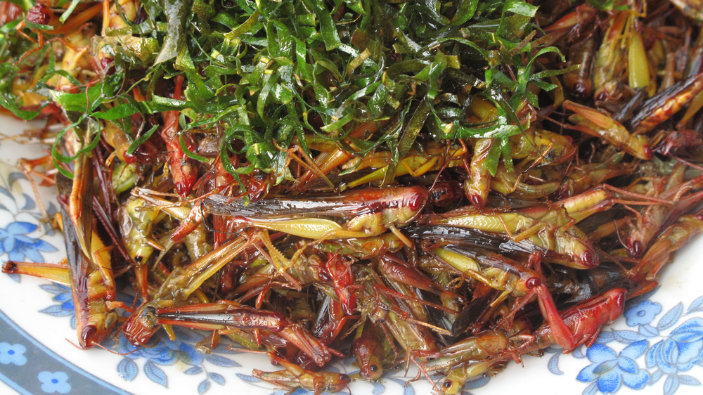More than 95 percent of Lao people snack on insects, often prepared with herbs and spices